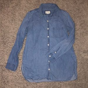 Button up denim style shirt
